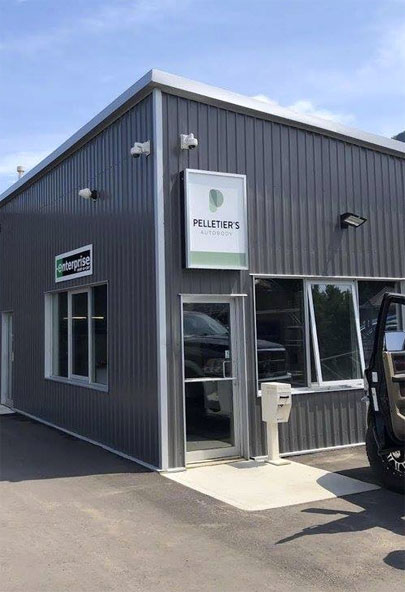 The current exterior facade of Pelletier's Auto Body
